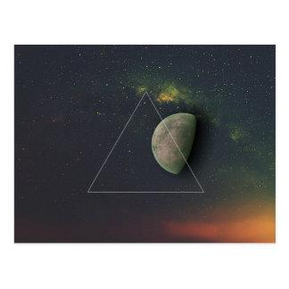 Geometric Moon Postcard