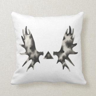 Geometric Moose Antler Triangle Black White Pillows