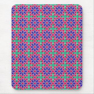 Geometric moroccan pattern mouse pad