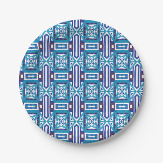 Geometric Moroccan Watercolor Seamless Pattern 2 Paper Plate
