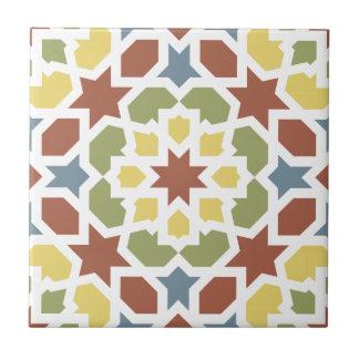 Geometric mosaic of arabesque of Morocco Ceramic Tile