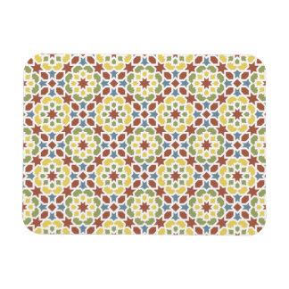 Geometric mosaic of arabesque of Morocco Rectangular Photo Magnet