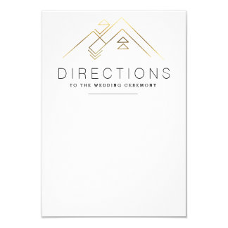 Geometric Mountain | Gold | Custom Direction Card