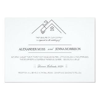 Geometric Mountain | Modern Customizable Card
