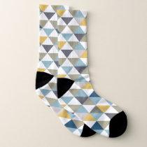 Geometric Multi Color Triangle Pattern Socks