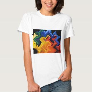 Geometric Multi Colors Tee Shirts