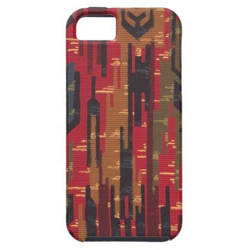 "Geometric ""Navaho rug"" wallpaper, 1910 iPhone 5 Case"