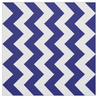 Geometric Navy and White Zigzag Fabric