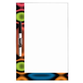 Geometric Neon Dry-Erase Board