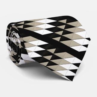 Geometric Neutral Colors Tie
