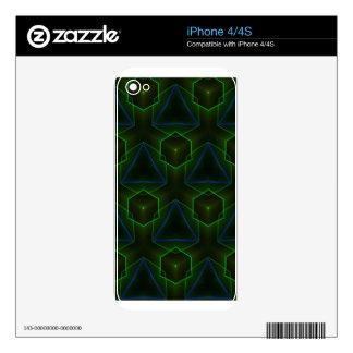 Geometric Octogon Pattern iPhone 4S Skin