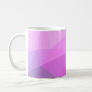 Geometric Ombre Pink Colorblock Coffee Mug