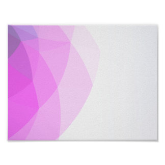 Geometric Ombre Pink Colorblock Poster
