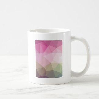 Geometric Ombre Pink to Tan Colorblock Coffee Mug