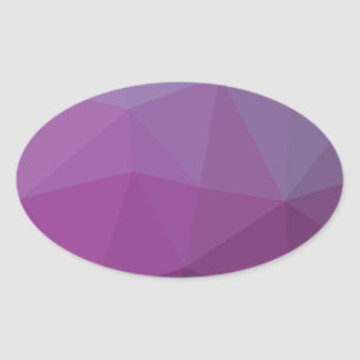 Geometric Ombre Purple Colorblock Oval Sticker