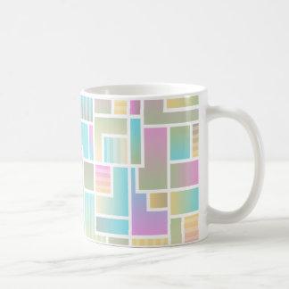 Geometric Ombre Rainbow Colorblock Coffee Mug
