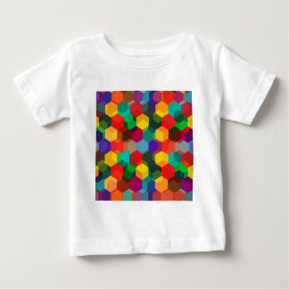 Geometric Ombre Rainbow Hexagons Baby T-Shirt