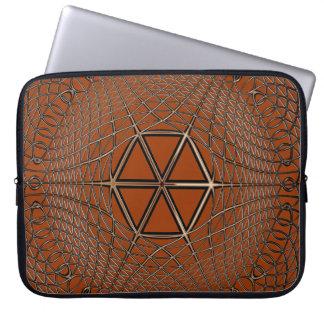 Geometric Optical Art Metalic-look Op Art Computer Sleeve