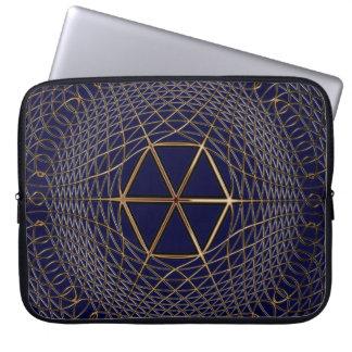 Geometric Optical Art Metalic-look Op Art Laptop Sleeve