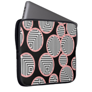 geometric optical circles computer sleeve