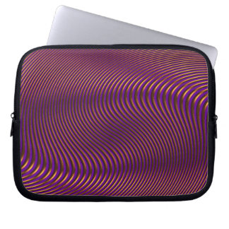 Geometric Optical Illusion Op Art Laptop Case