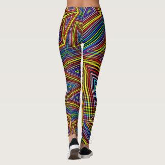 Geometric Optical Illusion Rainbow Triangles Leggings