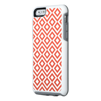 Geometric Orange and White Meander Pattern OtterBox iPhone 6/6s Case