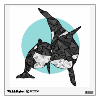 Geometric Orca Wall Decal