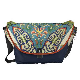 Geometric Oriental Design Courier Bag