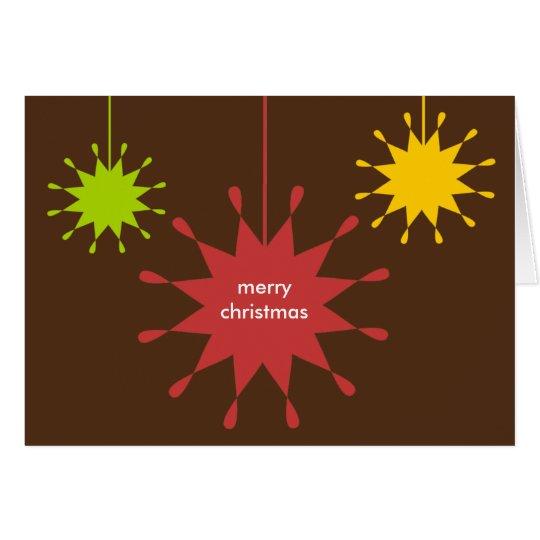Geometric ornament Christmas holiday business logo Card