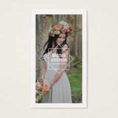 Geometric Overlay | Photography Business Cards at Zazzle
