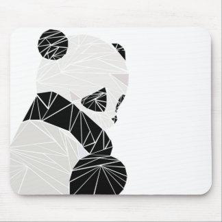 Geometric panda mouse pad