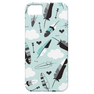 Geometric pastel feathers and arrow aztec theme iPhone SE/5/5s case