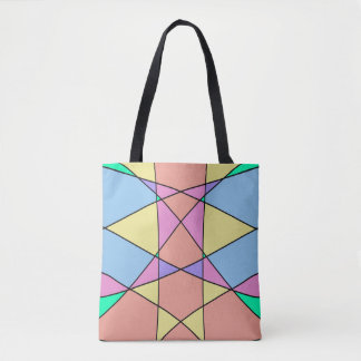 Geometric Pastel Shapes Artwork Tote Bag