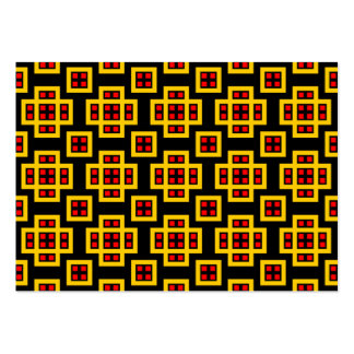 Geometric Pattern 030614 - Amber, Red and Black Large Business Cards (Pack Of 100)