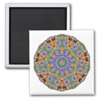 Geometric Pattern 09 - Add your own text Refrigerator Magnets