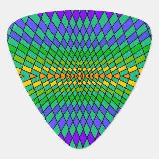 Geometric Pattern 80s Mod Guitar Pick