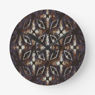 Geometric pattern.Abstract background Round Clock