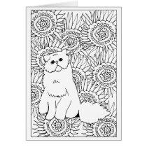 Geometric Pattern Adult Coloring Grumpy Cat