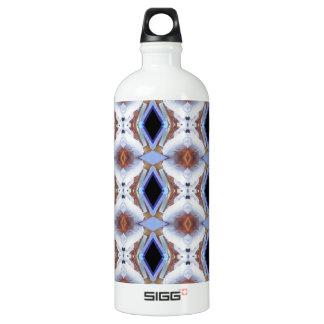 Geometric pattern aluminum water bottle
