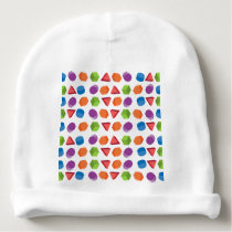 Geometric pattern baby beanie