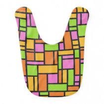 Geometric Pattern baby bib
