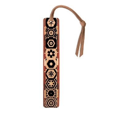 Aztec Themed Geometric Pattern Black 4Wyatt Bookmark