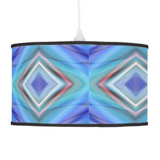 geometric pattern blue designed by tutti hanging pendant lamps