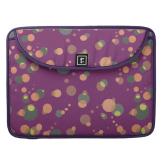 Geometric Pattern Bubbles Universe on any Color Sleeve For MacBook Pro