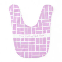 Geometric Pattern custom baby bib