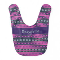 Geometric Pattern custom monogram baby bib