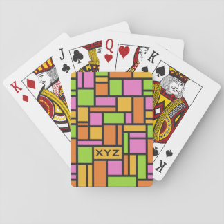 Geometric Pattern custom monogram playing cards