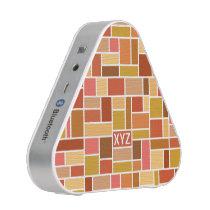 Geometric Pattern custom monogram speaker