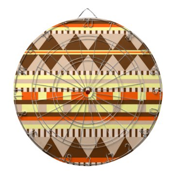 Aztec Themed Geometric pattern dart board